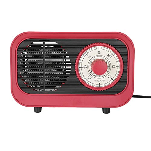 Estufa eléctrica de invierno rojo con forma de 500 W, calentamiento rápido, calentador eléctrico y secado de escritorio, 220 V