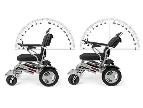 Porto Mobility Ranger Reclinable Lightweight Folding Premium Electric Wheelchair, All-Terrain, Dual Batteries, Posi-Traction Dual Powerful Motors, Reclining Power Wheelchair (Black, Standard)