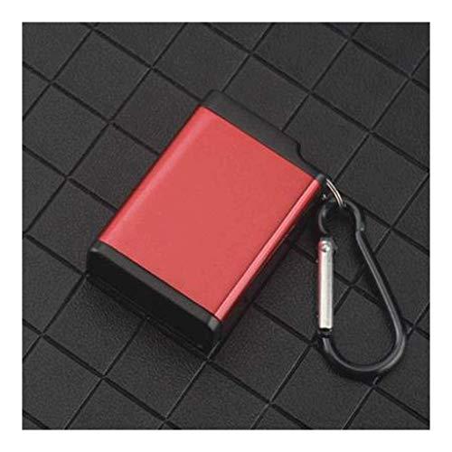 Mini portátil, Accesorios con Gancho de Anillo de Llavero, Bandeja de Ceniza con Bolsillo para Tapa y Cigarrillo, Viaje al Aire Libre Interior (Color: Blanco) BJY969 (Color : Red)