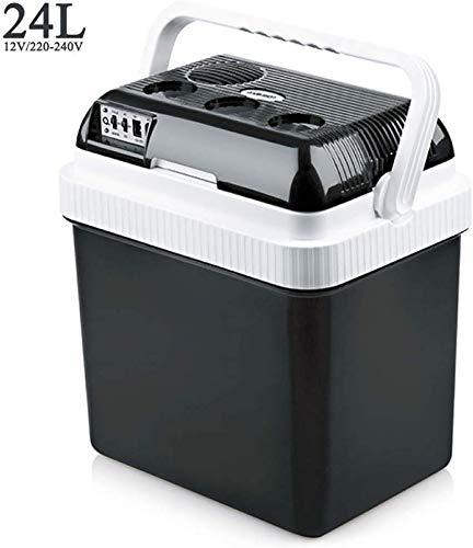 Dljyy 24L-Black thermo-elektrische kruik 12 V / 220-240 V, draagbaar, voor auto, mini-koeler, voor op reis