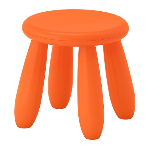 Ikea Mammut - Stool for children, for interiors and exteriors, color: orange