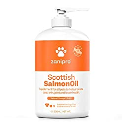 RICH IN ESSENTIAL FATTY ACIDS: Sustainably sourced from Scottish deep sea lochs, Zanipro Scottish salmon oil provides nourishing omega 3 fatty acids including DHA and EPA, omega 6 and omega 9 fatty acids for a balanced blend that supports dog and cat...