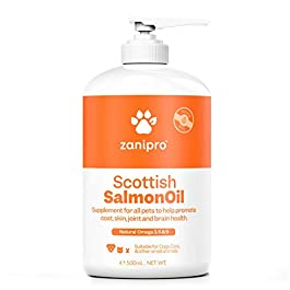 Zanipro Scottish Salmon Oil for Dogs & Cats – UK Made 100% Natural
