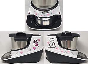 Sticker geschikt voor Bosch Cookit Hier liefde Pink
