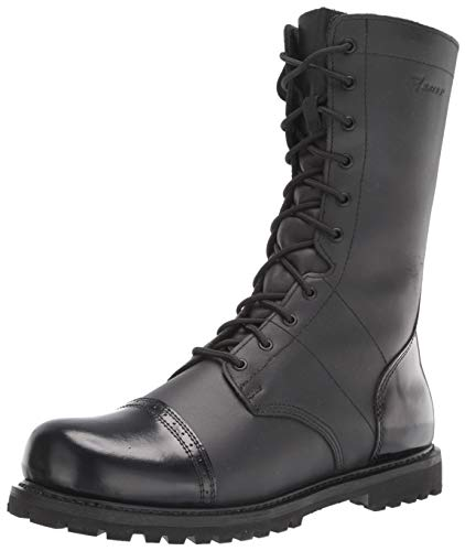 Bates Men's 11' Paratrooper Side Zip Boot, Black, 11.5 W US