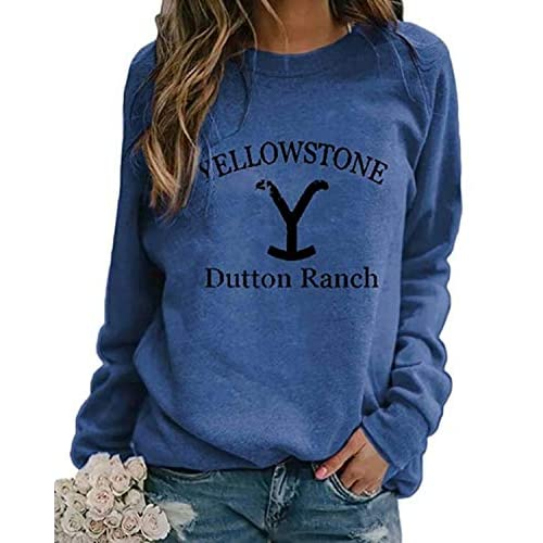 Yidarton Womens Crewneck Pullover Sweatshirt Long Sleeve Printed T-Shirt Tops Autumn Ladies Casual Jumper Blouse