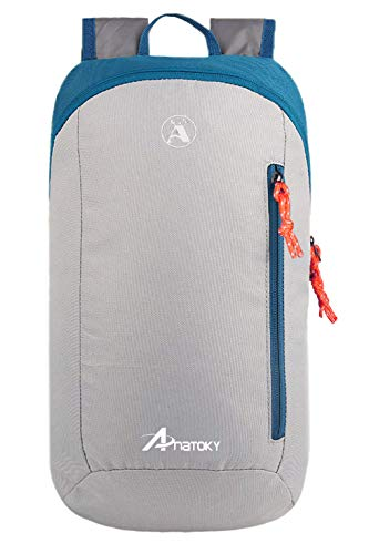 Anatoky Outdoor Small Mini Backpack Daypack Bookbags 10L (Gray)