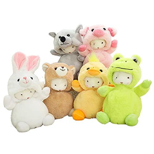 XOYZUU Peluche de animales de peluche de juguete de muñeca lindas figuras de felpa, juguete de peluche, almohada de animal sufrido abrazando almohada esponjosa figura regalo para niños (sueño, 19 cm)
