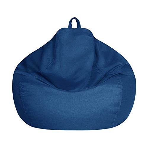 Sheeouis Lazy Sofas - Puf de tela de lino para tumbona, puf, puf, sin relleno, para sala de estar para adultos (tamaño: 100 cm) (tamaño: 100 cm)