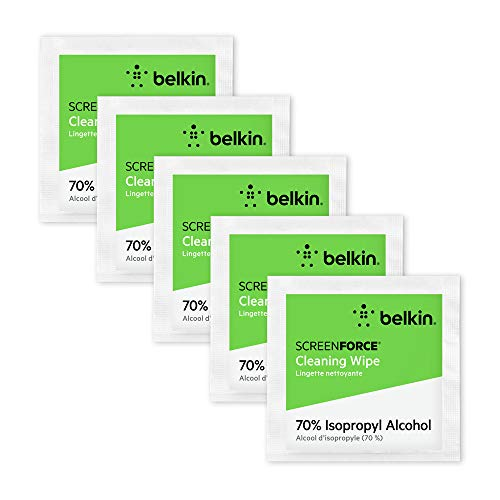 Belkin Screen Cleaning Wipes 75-Count (70% ISP Alcohol Wipes Reduce...