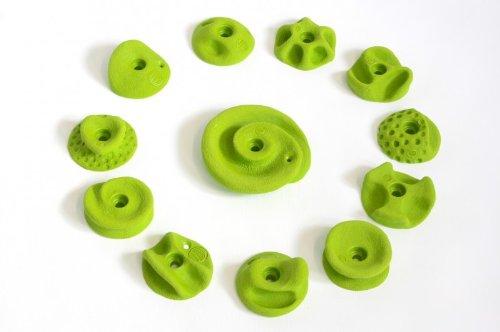 Unbekannt 12 Klettergriffe Griffset 'rundis' grün