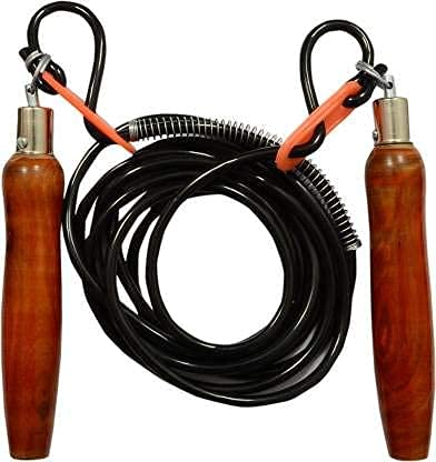 HIRNOTS Skipping Rope Wooden Handle - Adjustable Rope (Length: 260 cm)