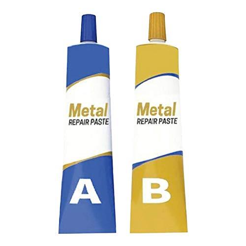 Pasta de reparación de metal, 100 g, agente reparador de pegamento de soldadura fría, resistente al calor de pasta de reparación de metal