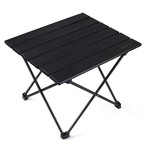 Tragbarer Camping-Tisch RISEPRO, Leichter Klapptisch mit Aluminium-Tischplatte und Tragetasche, leicht zu tragen, ideal für Outdoor, Camping, Picknick, Kochen, Strand, Wandern, Angeln 40 x 34 x 32 cm