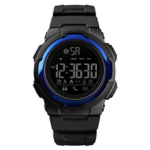 Die einzig Gute qualität Einfache wasserdichte Sport-intelligente Multifunktionsuhr 1440, Unterstützungs-Bluetooth/Bewegungsüberwachung/Anruf-Anzeige (Farbe : Dunkelblau)