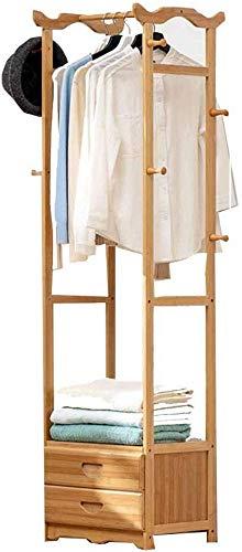 FVGH Met lade Multifunctionele Kast kapstok Vloerstaande hangers bamboe Entree slaapkamer foyer B