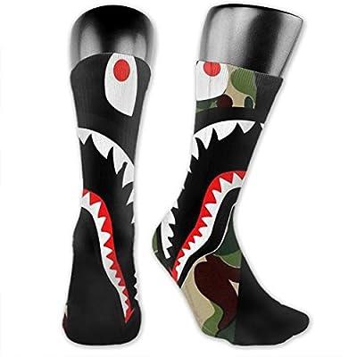 Case Shark Bape Unisex Fun Novelty Mid-Calf Boot Socks Fashion Breathable Dress Crew Socks