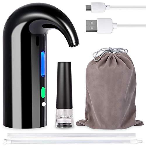 SODIAL Versatore Elettrico per Aeratore per Vino, Decantatore per Vino Portatile e Pompa per Erogatore di Vino, Ossidante per Vino con Filtro Automatico Multi-Intelligente
