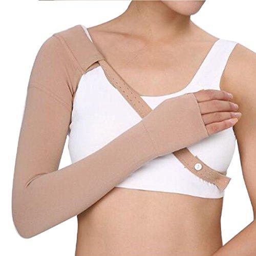 Tinsay Post Mastectomy - Manga de compresión antihinchazón con forma de edema giratorio, 30 ~ 40 mmHg (mano izquierda/derecha), L