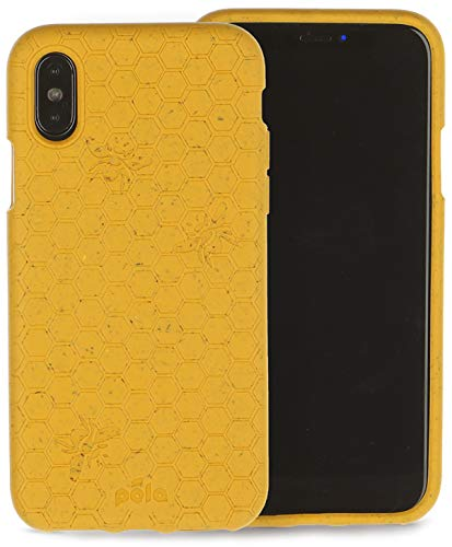 Pela: Phone Case for iPhone Xs- 100% Compostable and Biodegradable - Eco-Friendly - Made from Plants (XS Honey Bee)