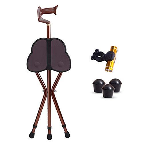 LXYZ Aid Folding Seat Cane, Gehstock & Stuhlsitz, Travel Cane Chair, Leichter, dreibeiniger Stock mit Hocker, für den Angelgarten Camping Event Hocker