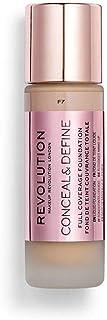 Makeup Revolution Conceal & Define Foundation, Makeup, Under Eye Concealer, Full Coverage Foundation, Concealer Stick, Sha...
