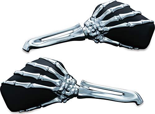 Kuryakyn 1759 Motorcycle Handlebar Accessory: Skeleton Hand Rear View Side Mirrors, Chrome...