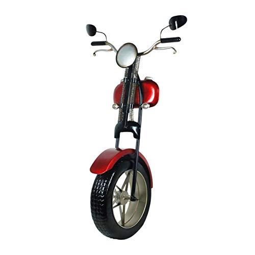 CAPRILO. Adorno Pared Decorativo de Metal Diseño 3D Moto Roja. Cuadros y Apliques. Muebles Auxiliares. Decoración Hogar. Regalos Originales. 45 x 29 x 75 cm.