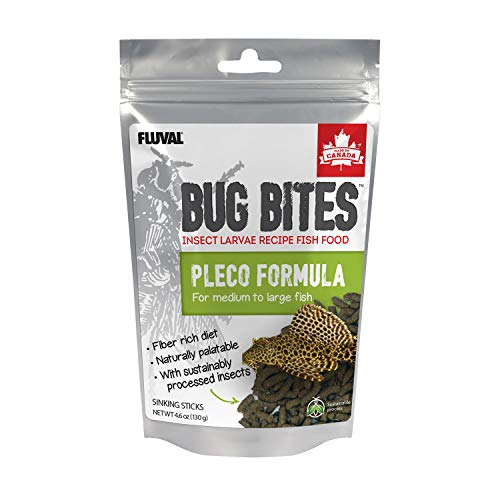 Fluval Bug Bites Bottom Feeder Fish Food, Sticks for Medium to Large Sized Fish, 4.59 oz., A6587
