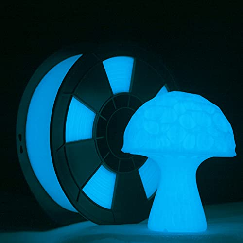 ZIRO PLA Glow Filament 1.75mm,3D Printer Filament PLA PRO 1.75mm Glow in The Dark Color 1KG(2.2lbs),Dimensional Accuracy +/- 0.03mm,GID Blue