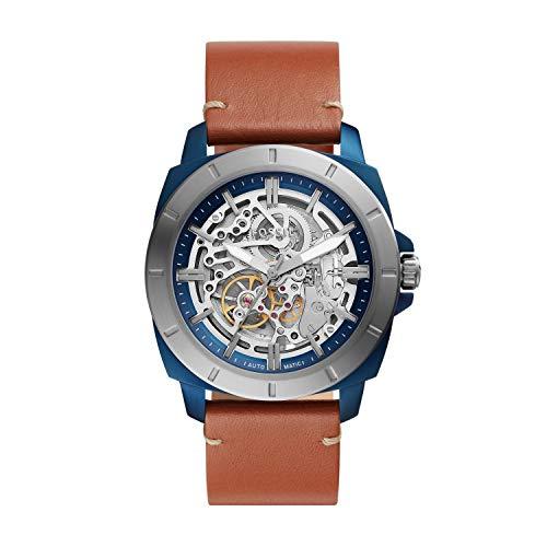 Fossil - Reloj automático de Cuero para Hombre BQ2427