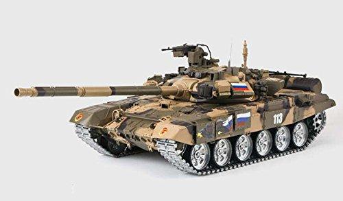 RC Panzer T90 1:16 Heng Long mit Rauch und Sound ,bullet schieten , Metallgetriebe Metallschienen + 2,4Ghz By Big Boyz® platinum version