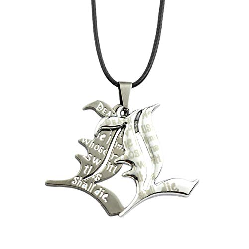 Saicowordist Death Note L Necklace Anime Letter Alloy Pendant Necklace Chain Cosplay Costume Accessories Gift for Anime Fans