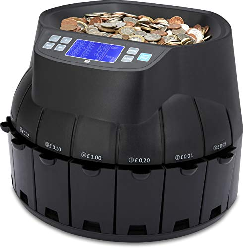 The ZZap CS40 - Automatic UK Coin Counter & Sorter - 336 Coins/Minute...