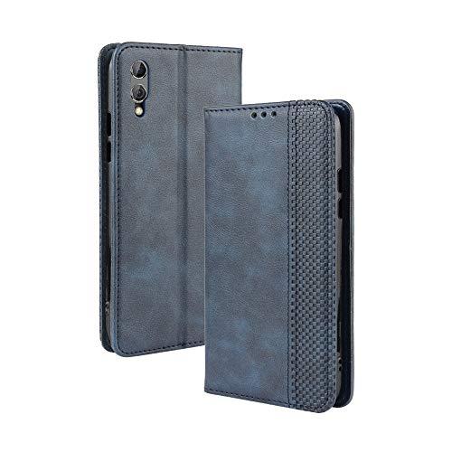 LAGUI Kompatible für Xiaomi Black Shark 2/2 pro Hülle, Leder Flip Hülle Schutzhülle für Handy mit Kartenfach Stand & Magnet Funktion als Brieftasche, Blau