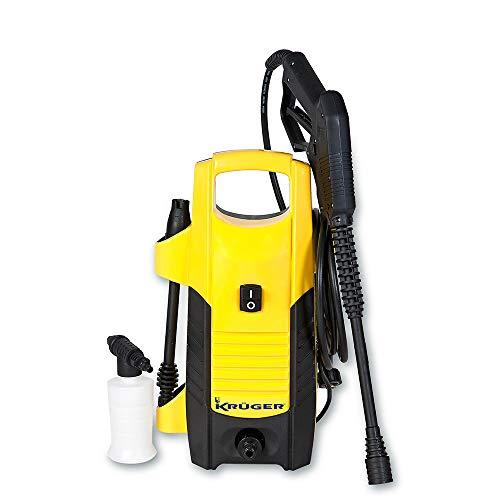 Kruger KH502 Hidrolimpiadora de agua fría a 105 bar. y 300 litros/hora (1600 W, 230 V), color amarillo