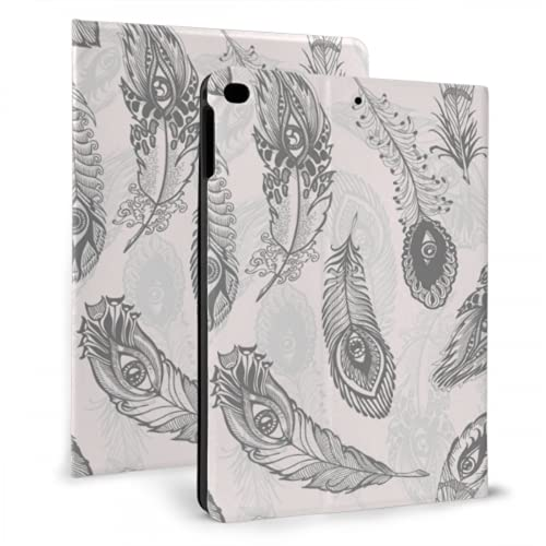 WYYWCY Protective pad Case For Kids Peacock Feather Soft Long Design New pad Cover For pad Mini 4/mini 5/2018 6th/2017 5th/air/air 2 With Auto Wake/sleep Magnetic Cover For Mini pad