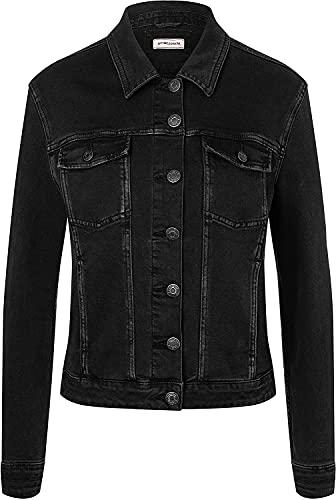 Timezone Damen Denim Jacket Jacke, Blau (Blue Bay wash 3537), 32 (Herstellergröße: XS)