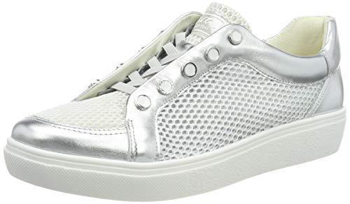 ARA Damen New York 1214525 Sneaker, Grau (Silber, Weiss 75), 39 EU