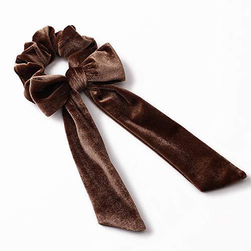 5 coleteros de pelo para mujer, de terciopelo, con lazo, elásticos, lazos para el pelo, accesorios para el cabello para niñas...