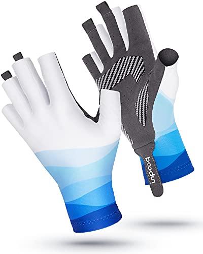 kemimoto Kayaking Gloves for Women Men, Fingerless Fishing Gloves, Comfortable...