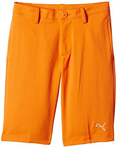 PUMA Golf Tech–Pantalón Corto para niño, Color Naranja - Naranja, tamaño 12 años (152 cm)