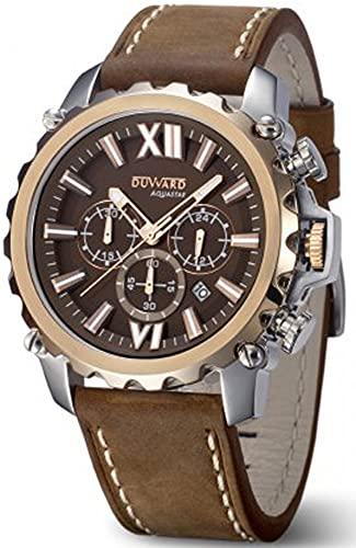Duward aquastar Nice Reloj para Hombre Analógico de Automático japonés con Brazalete de Piel de Vaca D85516.09