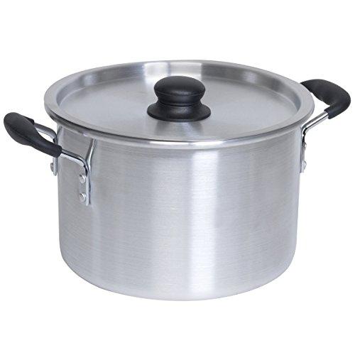IMUSA 12Qt Aluminum Stock Pot Single Pan–Frying Pans (Single Pan, Aluminium, Aluminium, 13.7L)