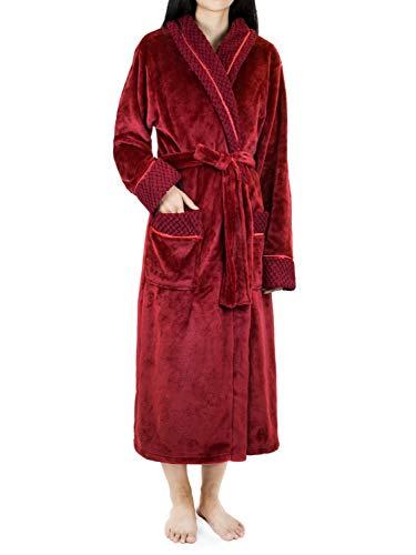 PAVILIA Long Satin Robe for Women
