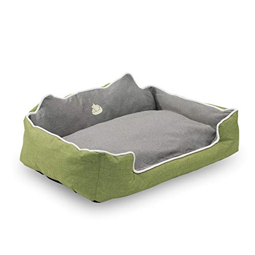 long rich HCT-TX1-SAGE-S Rectangle Pet Bed, Sage To Gray, By Happycare Textiles