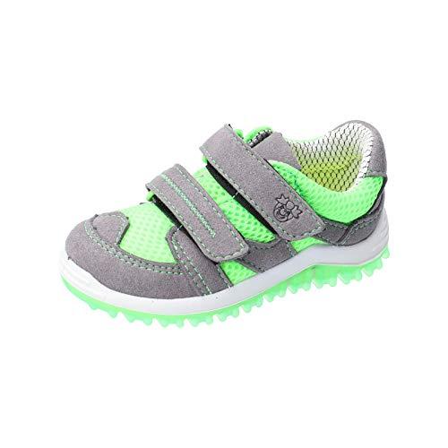 RICOSTA Pepino Niños Zapatos Bajos Pepe, Chico Zapatos con Cierre de Velcro,Zapatilla de Deporte,Normal (WMS),Graphit/neongrün,25 EU / 7.5 Child UK
