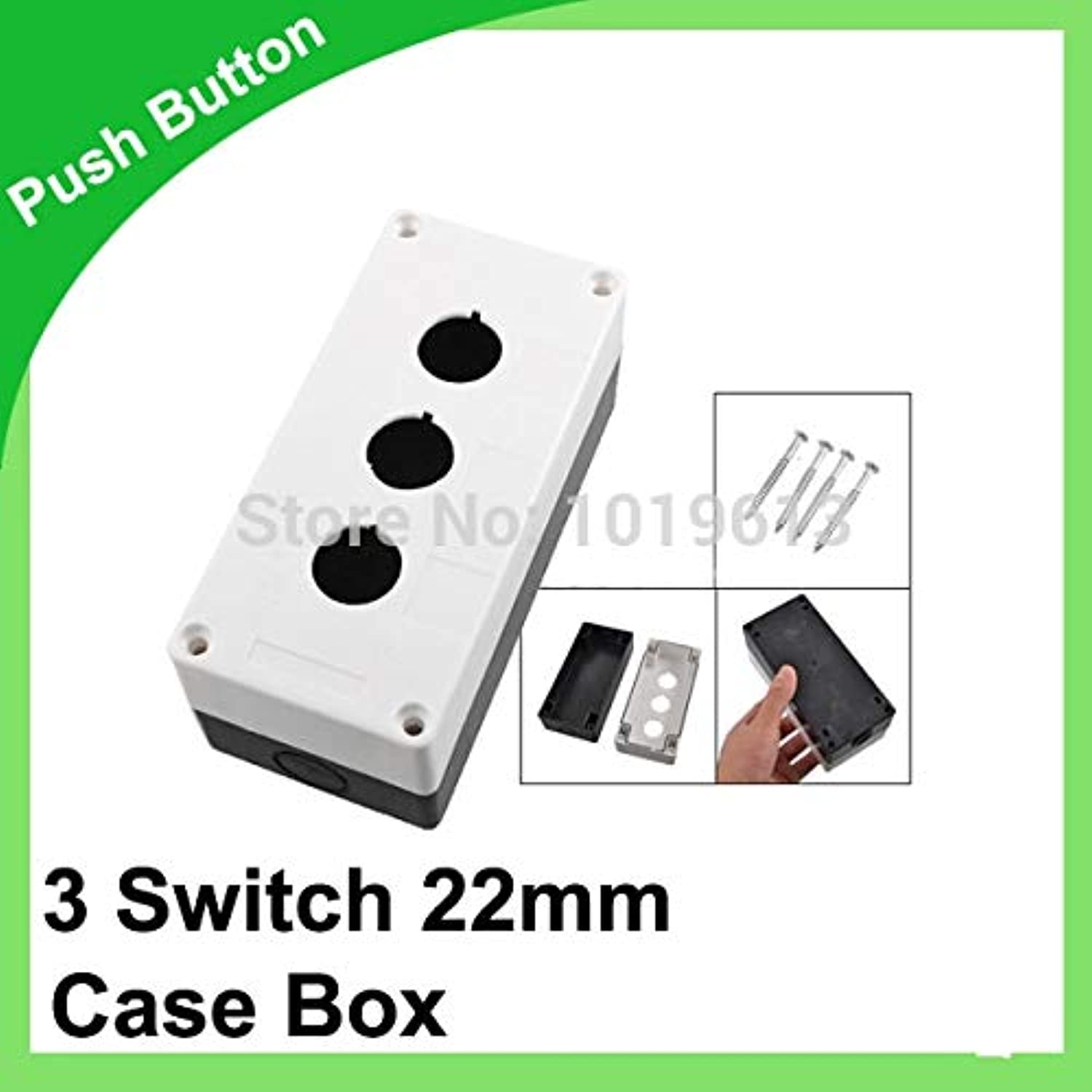22mm Push Button Control Station 3 Switch Predector Black White