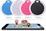 HomeSweety 4 Packs Mini Dog GPS Tracking Device, No Monthly Fee App Locator, Round Portable Bluetooth Intelligent Anti-Lost Device for Luggages/Kid/Pet Bluetooth Alarms