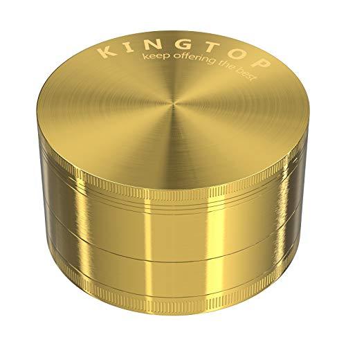Kingtop Herb Spice Grinder Large 3.0 Inch Gold